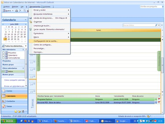 sincronizar google calendar con outlook