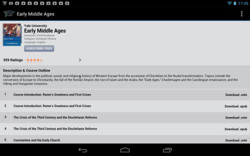 Tunesviewer iTunesU android